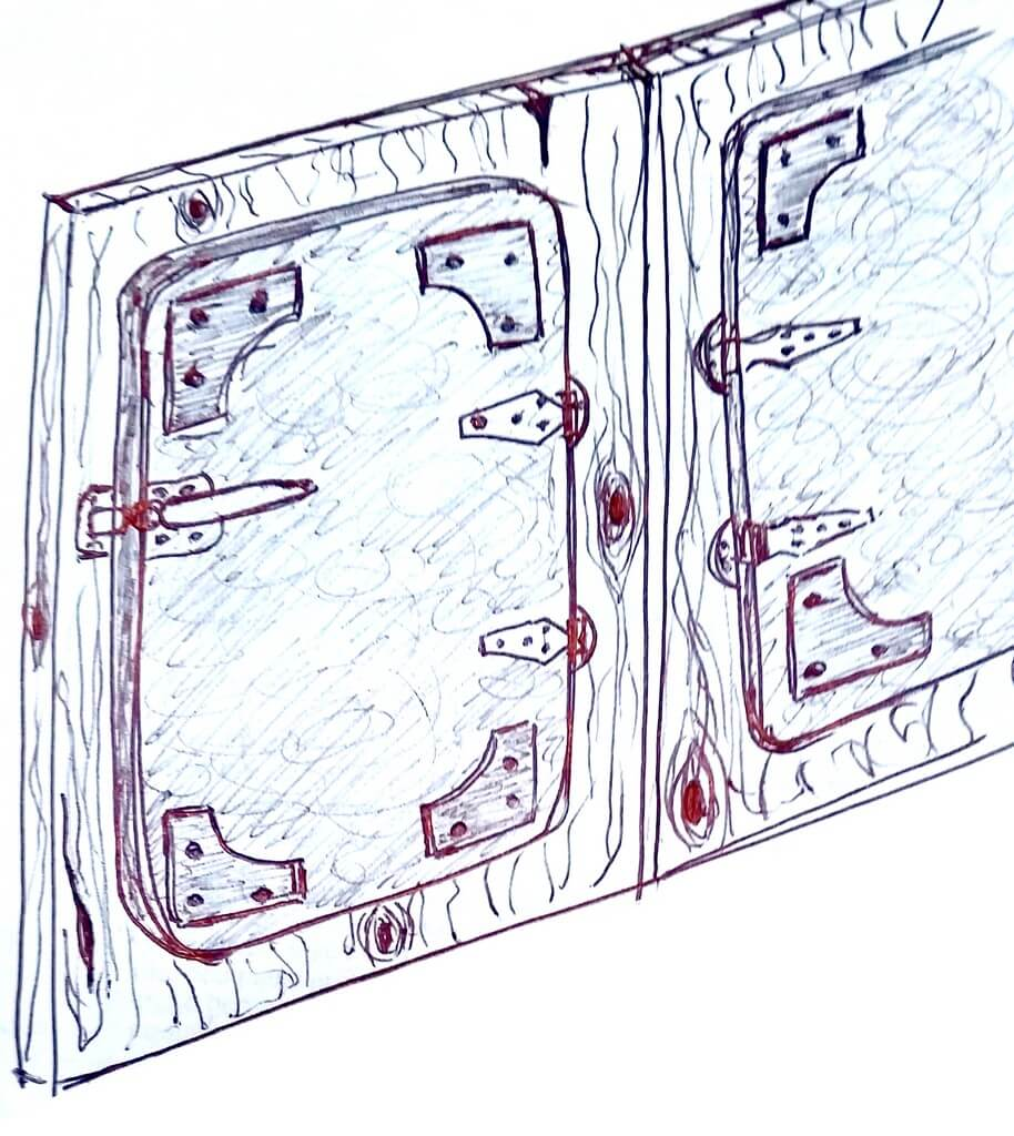 Alchimia Home - Soluzione arredo su misura - Cucina Roma - Schizzo anta