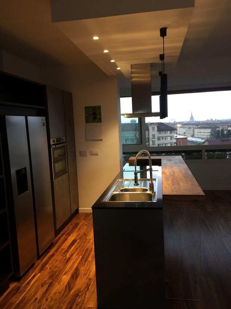 Alchimia Home - Soluzione arredo su misura - Cucina Torino Corso Turati - Vista laterale